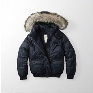 Abercrombie & Fitch Navy Puffer Jacket